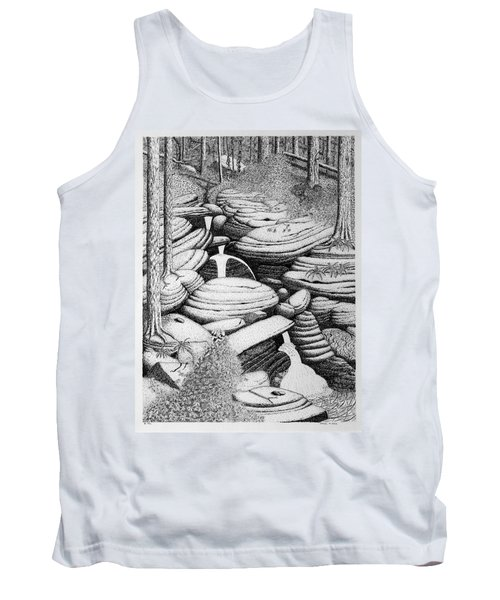 Cascade In Boulders Tank Top by Daniel Reed