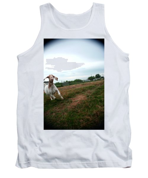 Tank Top featuring the photograph Chased By A Crazy Goat by Lon Casler Bixby