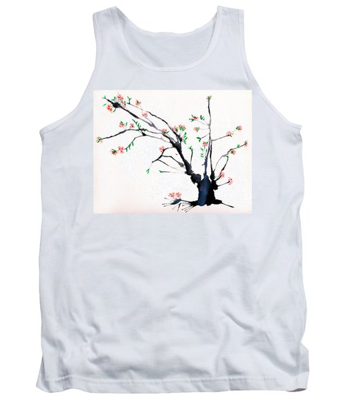 Cherry Tree By Straw Tank Top