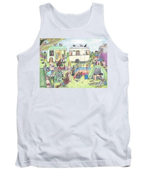 Chest Out Camping Tank Top