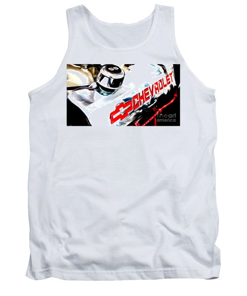 Tank Top featuring the digital art Chevy Power by Tony Cooper