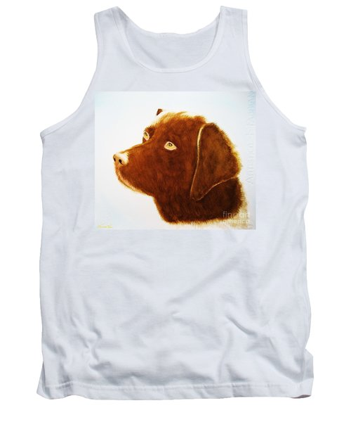 Chocolate Labrador  Tank Top