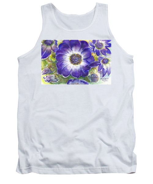 Tank Top featuring the painting Cineraria Of South Africa  by Bernadette Krupa