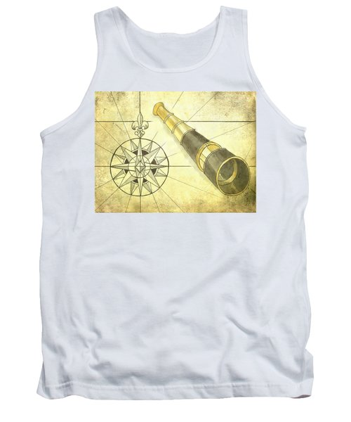 Compass And Monocular Tank Top