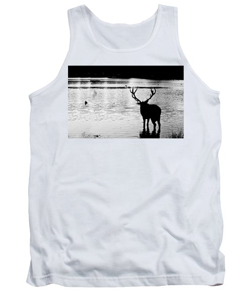 Tank Top featuring the photograph Cooling Off Deer by Maj Seda