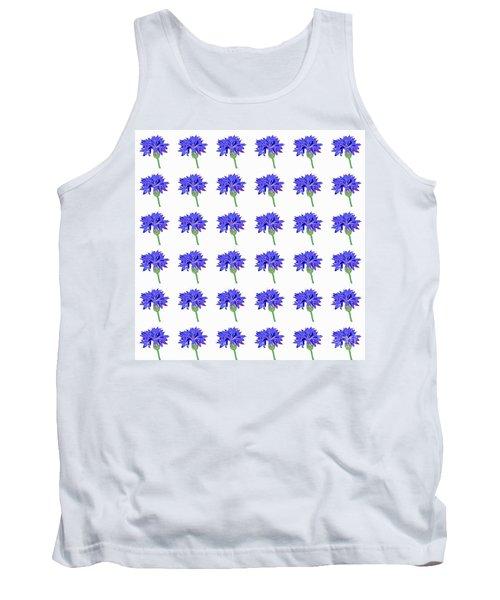 Tank Top featuring the digital art Cornflowers by Barbara Moignard