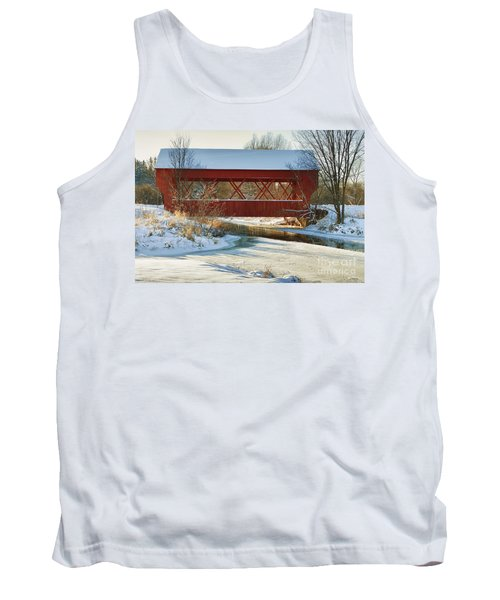 Tank Top featuring the photograph Covered Bridge by Eunice Gibb