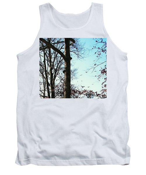 Tank Top featuring the photograph Crows In For Landing by Pamela Hyde Wilson
