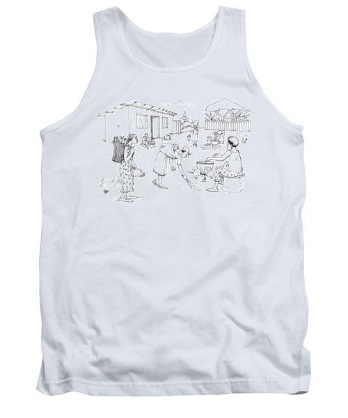 Daily Life In South And Center Cameroon 10 Tank Top by Emmanuel Baliyanga