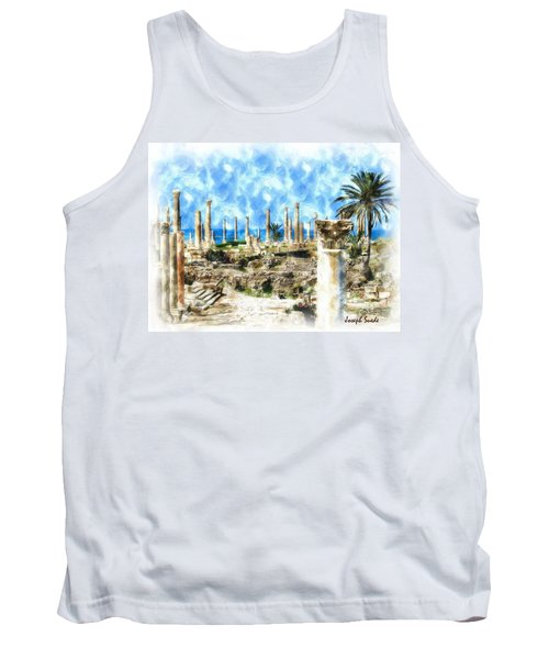 Do-00550 Ruins And Columns Tank Top by Digital Oil