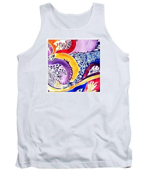 Dreaming In Watercolors Tank Top