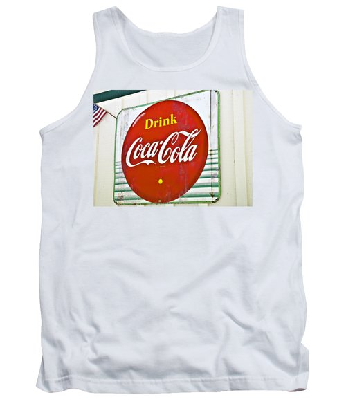 Drink Coca Cola Tank Top by Susan Leggett