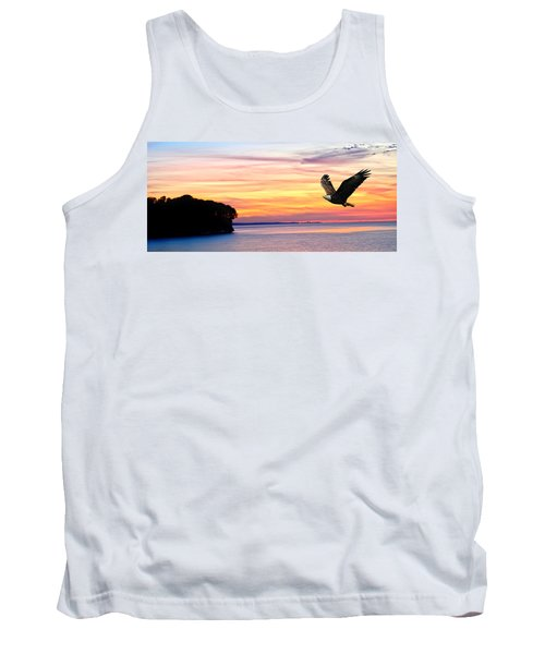 Tank Top featuring the photograph Eagle Sunrise by Randall Branham