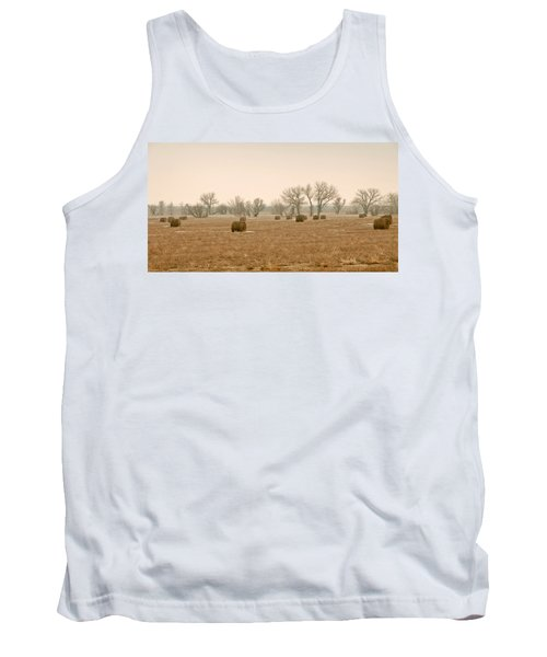 Earlying Morning Hay Bails Tank Top by James Steele