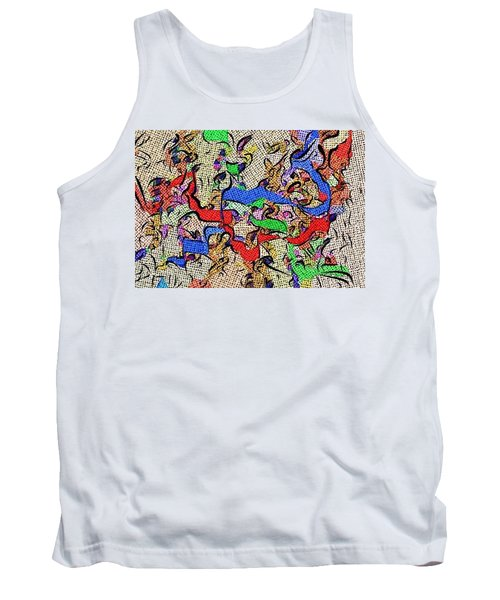 Tank Top featuring the digital art Fabric Of Life by Alec Drake