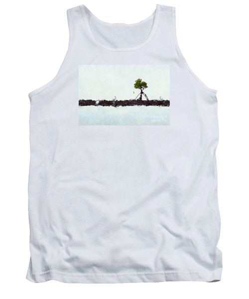 Tank Top featuring the photograph Falling Mangrove Leaf by Dan Friend