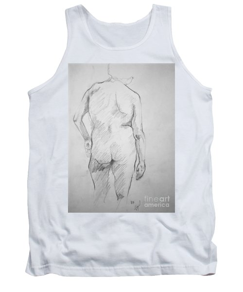 Tank Top featuring the drawing Figure Study by Rory Sagner