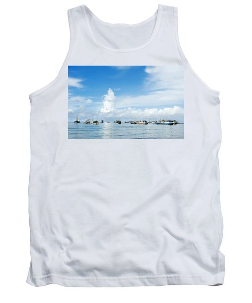 Tank Top featuring the photograph Fishing Boat by Yew Kwang
