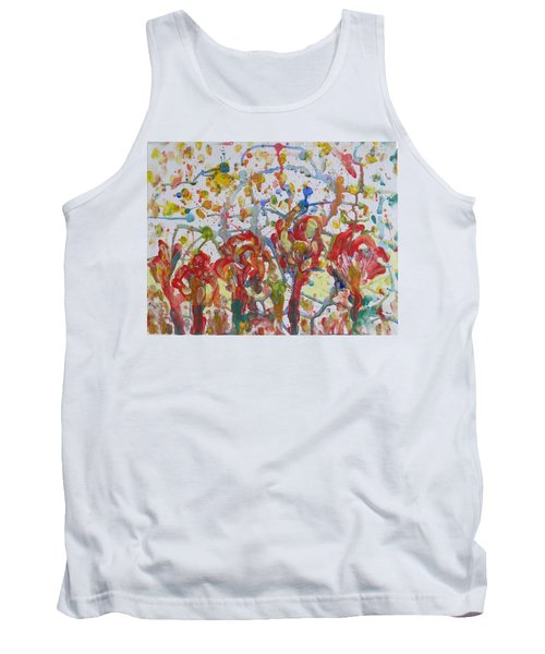 Tank Top featuring the painting Floral Feel by Sonali Gangane