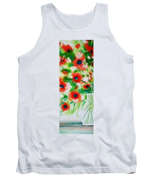 Flowers In A Glass Tank Top