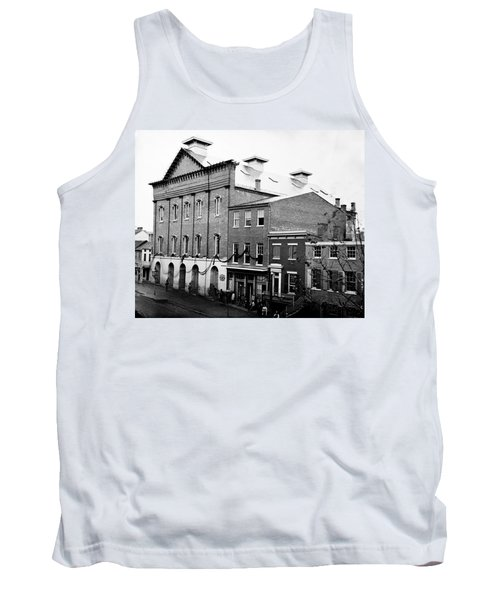 Tank Top featuring the photograph Fords Theater - After Lincolns Assasination - 1865 by International  Images