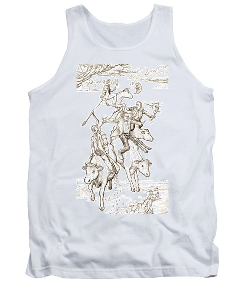 Tank Top featuring the digital art Four Mad Cowboys Of The Apocalypse by Russell Kightley