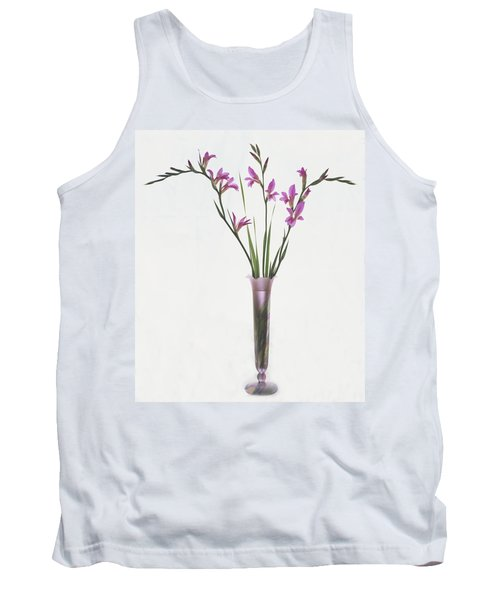 Freesias In Vase Tank Top by Susan Rovira