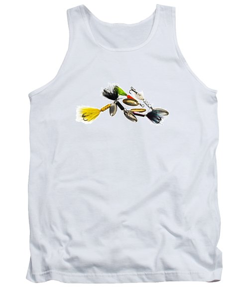 Tank Top featuring the photograph Freshwater Fishing Lures by Susan Leggett