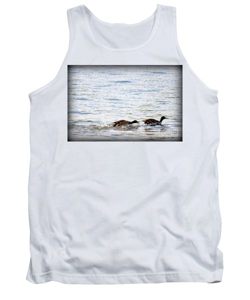 Tank Top featuring the photograph Frolicking Fun by Kathy  White