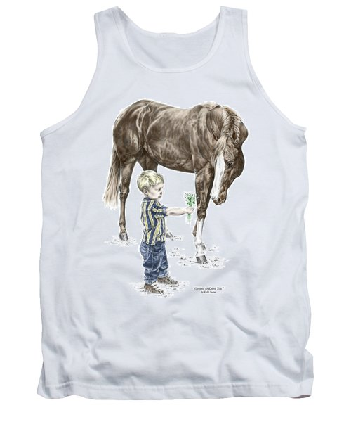 Getting To Know You - Boy And Horse Print Color Tinted Tank Top