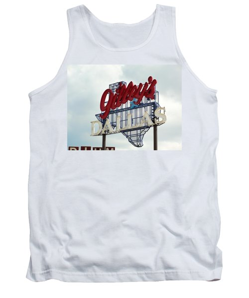 Tank Top featuring the photograph Gilleys Dallas by Charlie and Norma Brock