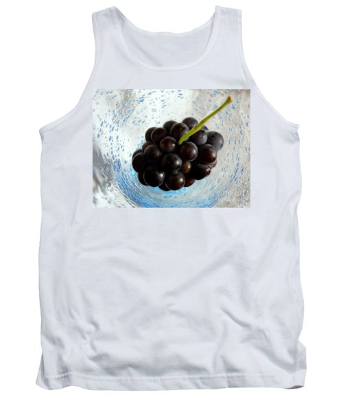 Tank Top featuring the photograph Grape Cluster In Biot Glass by Lainie Wrightson
