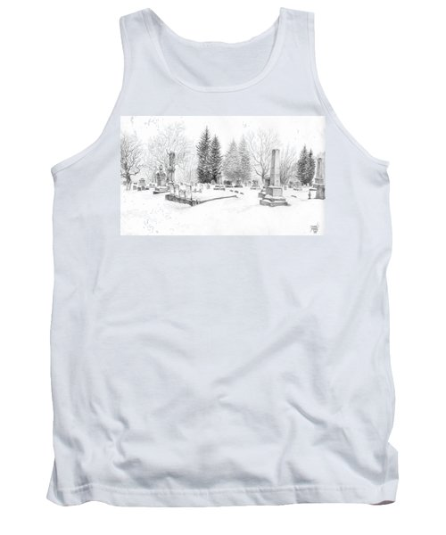 Graveyard In The Snow Tank Top