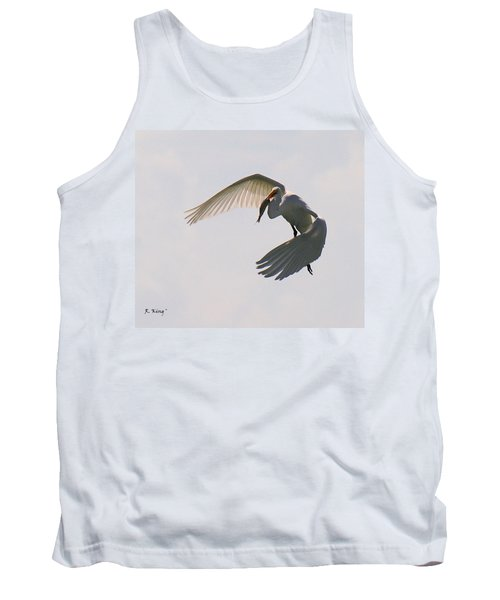 Great Egret Successful Fishing Tank Top