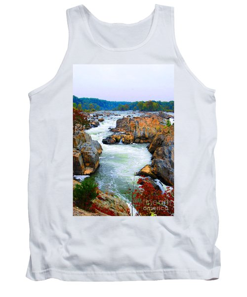 Great Falls On The Potomac River In Virginia Tank Top