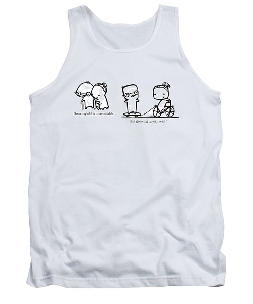 Tank Top featuring the drawing Growing Old by Leanne Wilkes