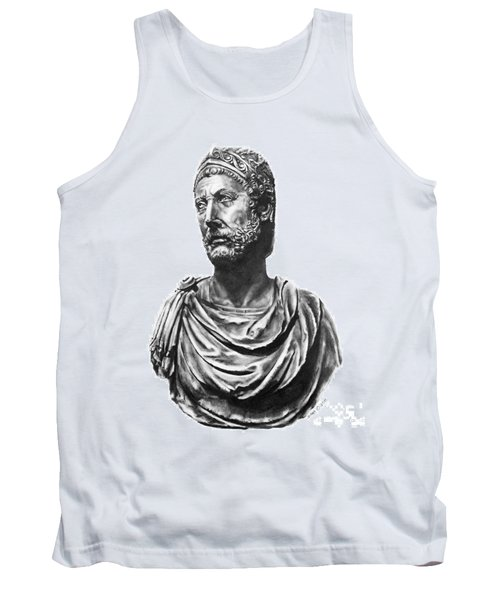 Tank Top featuring the drawing Hannibal by Marianne NANA Betts