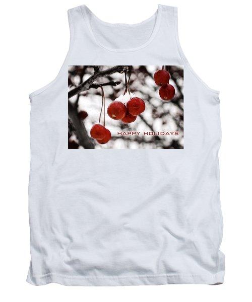 Happy Holidays Berries Tank Top