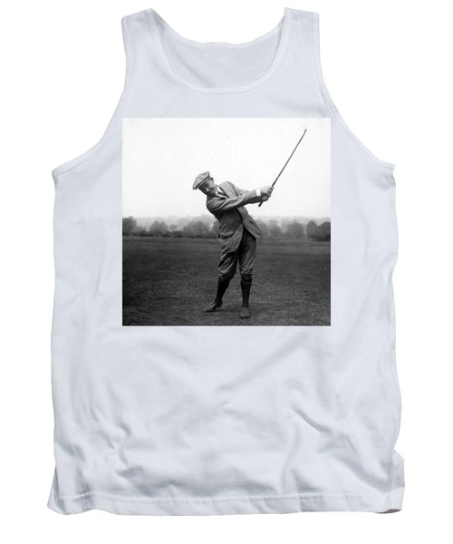 Tank Top featuring the photograph Harry Vardon Swinging His Golf Club by International  Images