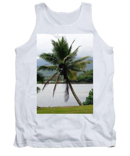 Hawaiian Palm Tank Top by Athena Mckinzie