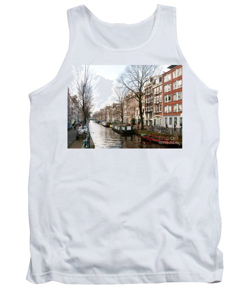 Homes Along The Canal In Amsterdam Tank Top by Carol Ailles