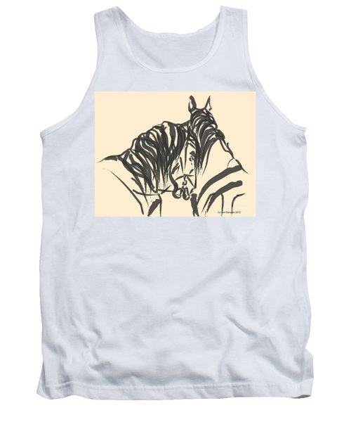Tank Top featuring the painting Horse - Together 9 by Go Van Kampen