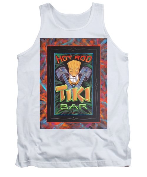 Hot Rod Tiki Bar Tank Top by Alan Johnson