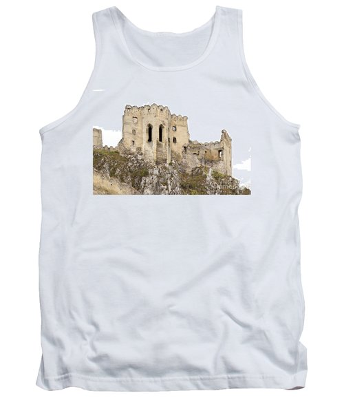 Tank Top featuring the photograph Hrad Beckov Castle by Les Palenik