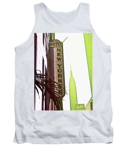 Tank Top featuring the photograph I Love New York by Beth Saffer