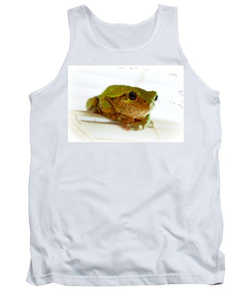 Tank Top featuring the photograph Im Watching You by Peggy Franz