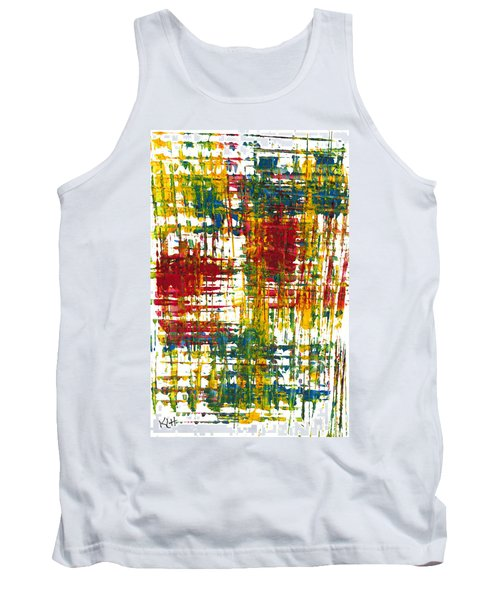 Tank Top featuring the painting Inside My Garden 161.110411 by Kris Haas