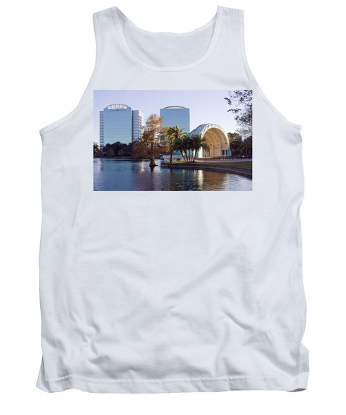 Tank Top featuring the photograph Lake Eola's  Classical Revival Amphitheater by Lynn Palmer