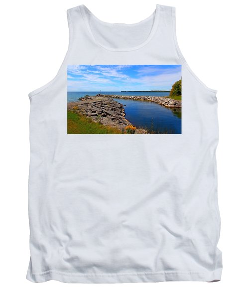 Tank Top featuring the photograph Lakeside Bend by Davandra Cribbie