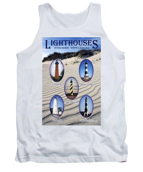 Tank Top featuring the photograph Lighthouses Of The Outer Banks by Tony Cooper